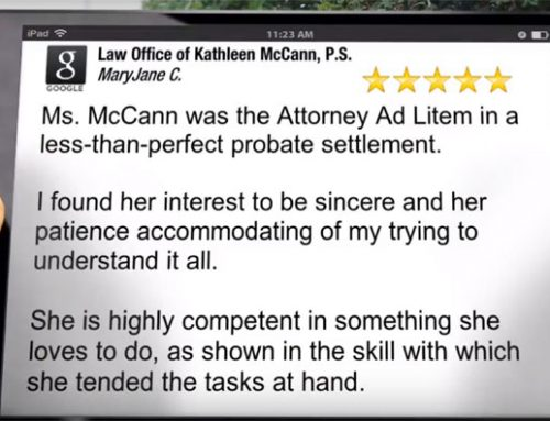 5 Star Probate Attorney Review for Kathleen McCann